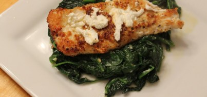 Spinach with chicken 2